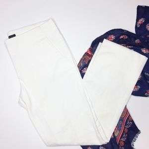 Theory white cropped pants style 70274220 size 2